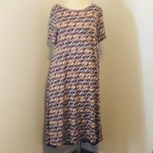 LuLaRoe Dresses - LuLaRoe L (14/16) Carly Diamonds and Zig Zags